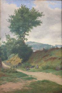 Paysage de Guéret, peinture d'Auguste Leloir XIXe s.